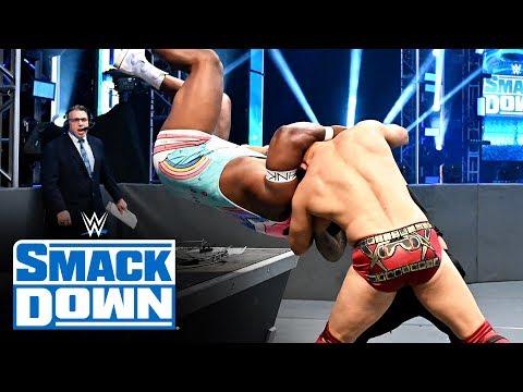 The Miz vs Big E vs Jey Uso– SmackDown Tag Team Title Triple Threat Match: SmackDown, April 17, 2020