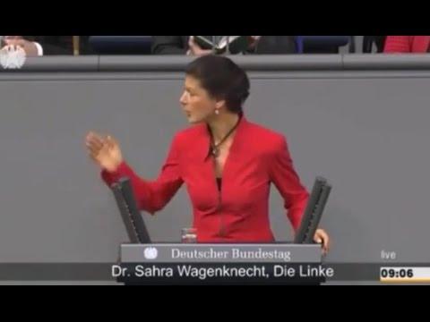 Sahra Wagenknecht demütigt Angela Merkel im Bundestag 2/2016
