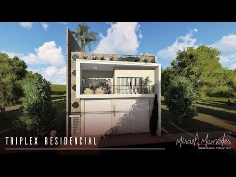 Projeto Arquitetônico - Triplex Residencial