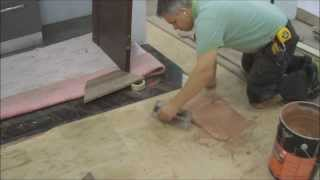 Installing Engineered Hardwood Flooring Around A Bar In The Basement