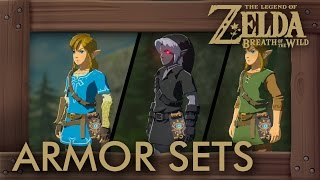 Zelda Breath of the Wild - All Armor Sets & Amiibo Outfits