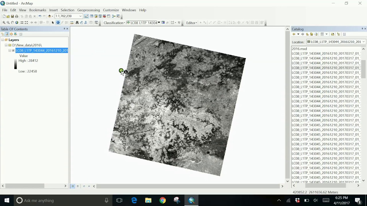How to remove black background from Landsat images in