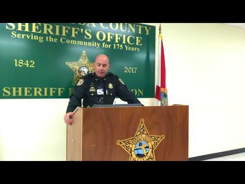 Santa Rosa County Sheriff Bob Johnson addresses Milton shooting