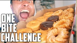The One Bite Challenge: 12 DONUTS!