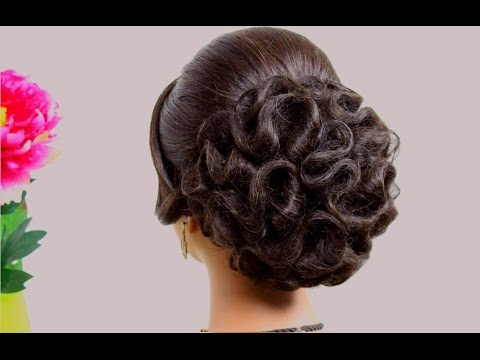 Hairstyle for medium hair – Wedding updo