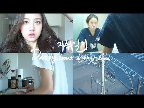 ENG) 자취일기 : 어떤 주말 Diary about living aloneㅣEVA