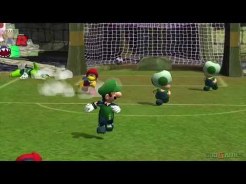Super Mario Strikers - Gameplay Gamecube HD 720P (Dolphin GC