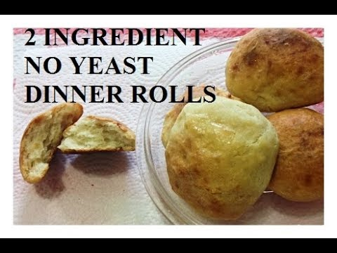 2 INGREDIENT  No Yeast DINNER ROLLS