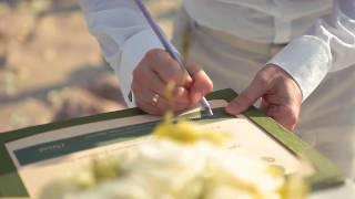 Свадебная церемония А&О в европейском стиле в окружении друзей и близких на острове Самуи.