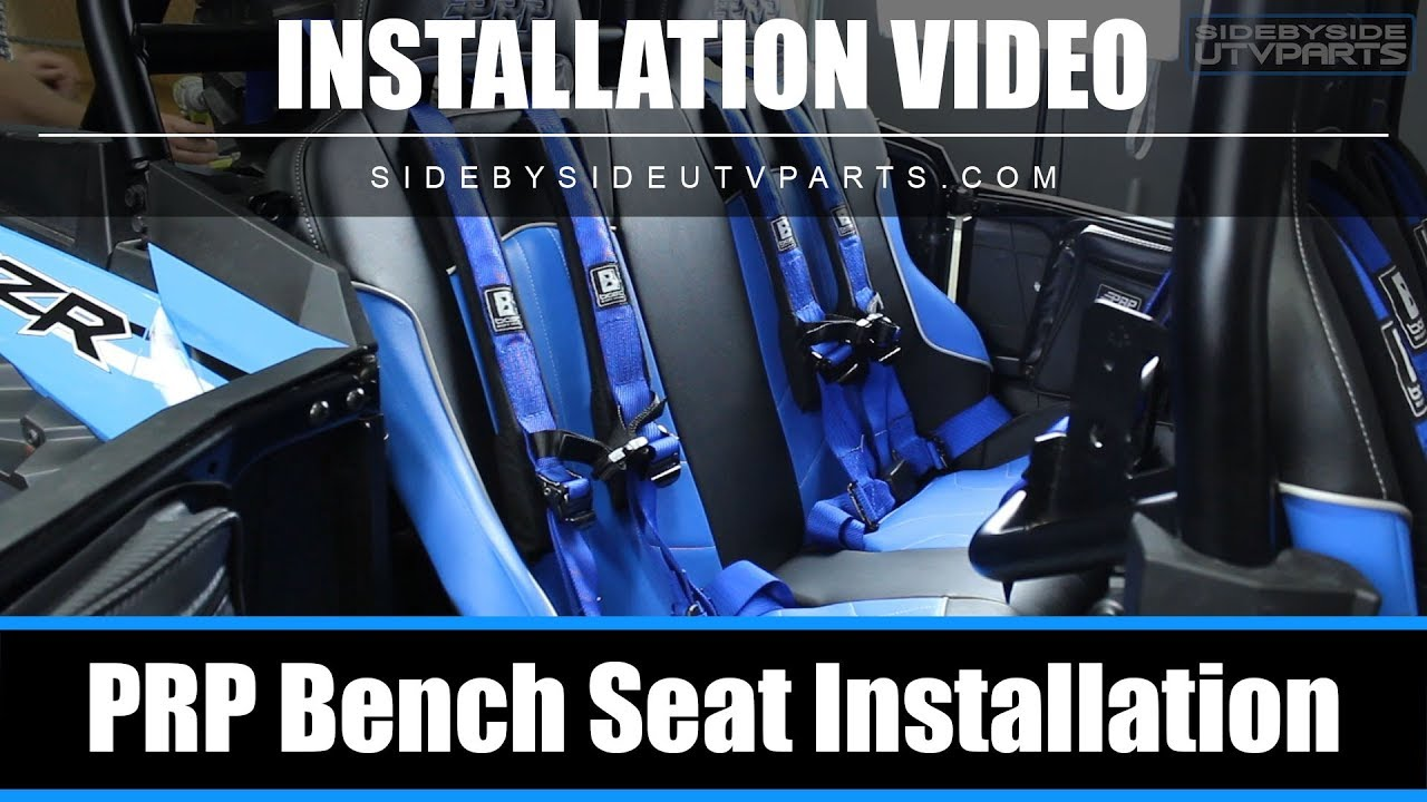 Side By Side Prp Bench Seat Installation Youtube