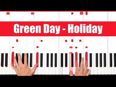 Holiday Green Day Piano Tutorial - EASY
