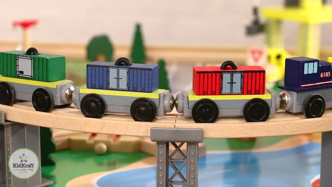 Kidkraft Waterfall Mountain Train table and Set - YouTube