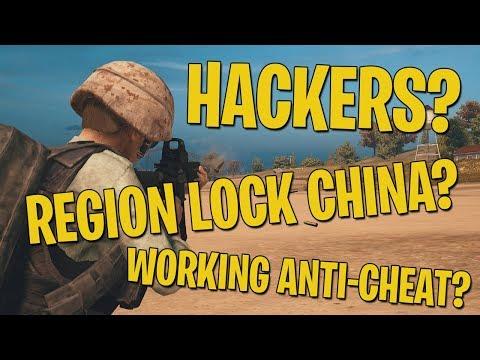 Hackers? Region Lock China? Working Anti-Cheat? - PUBG