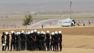 Clashes on the Turkish border as Kurds flock to assist their brethren in Syria