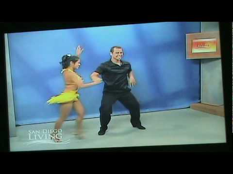 Ooh La La Dance Company SALSA SUSIE performing SALSA CABARET SHOW ON SAN DIEGO LIVING TV SHOW