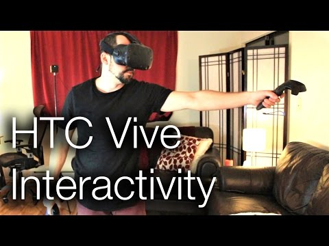 HTC Vive Interactivity in Unity (Grabbing, Open Doors, Walking)