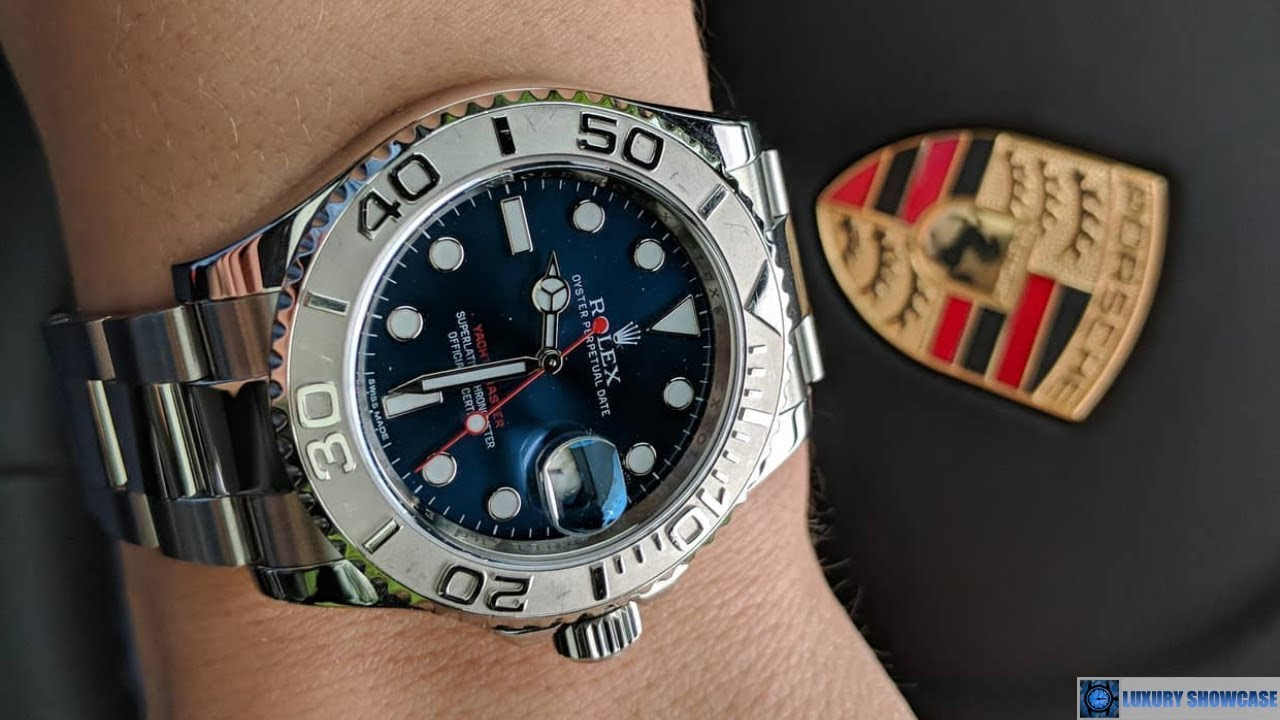Rolex Yacht,Master 116622 Blue dial 40 mm Steel and Platinum