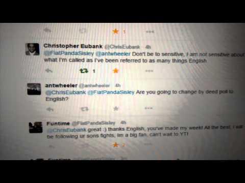 Chris Eubank (English) talking to me on twitter