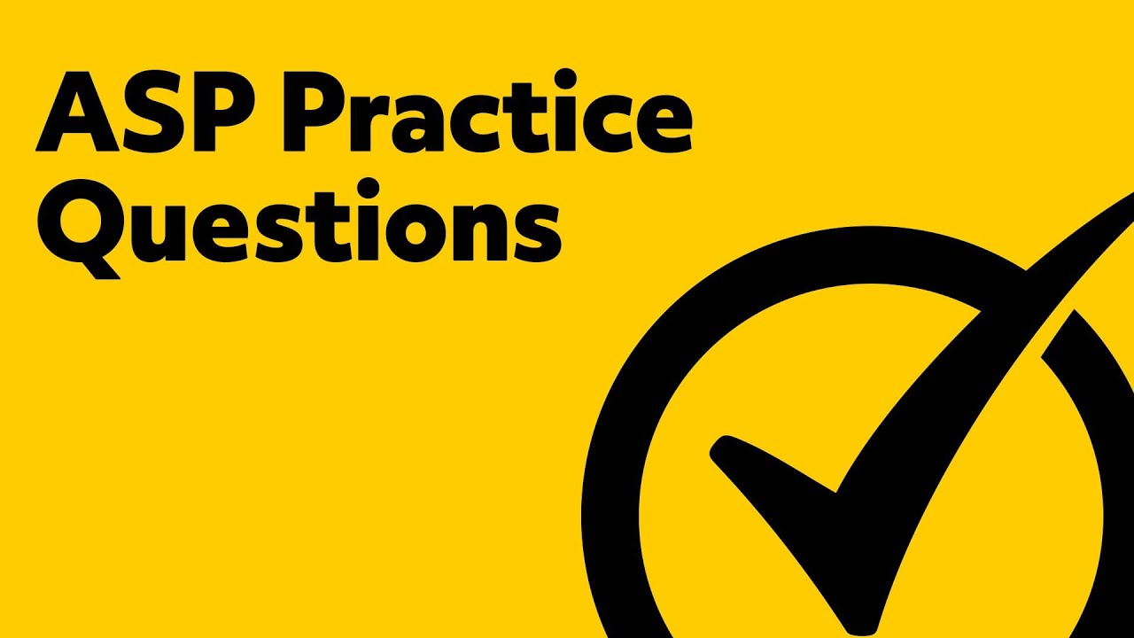 ASP Safety Fundamentals Exam Practice (Certification Review)