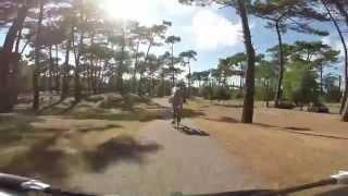 aire camping car vers la plage sud Montalivet