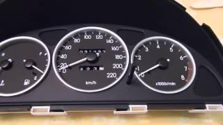 Установка колец и пересвет приборной панели в автомобиле Daewoo Lanos