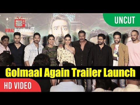 UNCUT - Golmaal Again Official Trailer Launch | Ajay Devgn, Parineeti, Rohit Shetty | Golmaal 4