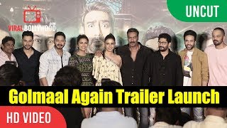 UNCUT - Golmaal Again Official Trailer Launch | Ajay Devgn, Parineeti, Rohit Shetty | Golmaal 4
