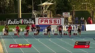 Filippo TORTU and Bingtian SU 10.04 Meeting Madrid 2018 Semifinal 2