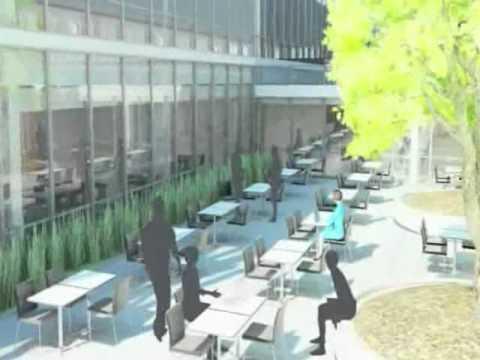 Animation vidéo du nouveau siège social de Pfizer Canada
