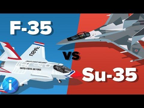 US F-35 vs Russian Su-35 Fighter Jet - Which Would Win? - Military Comparison