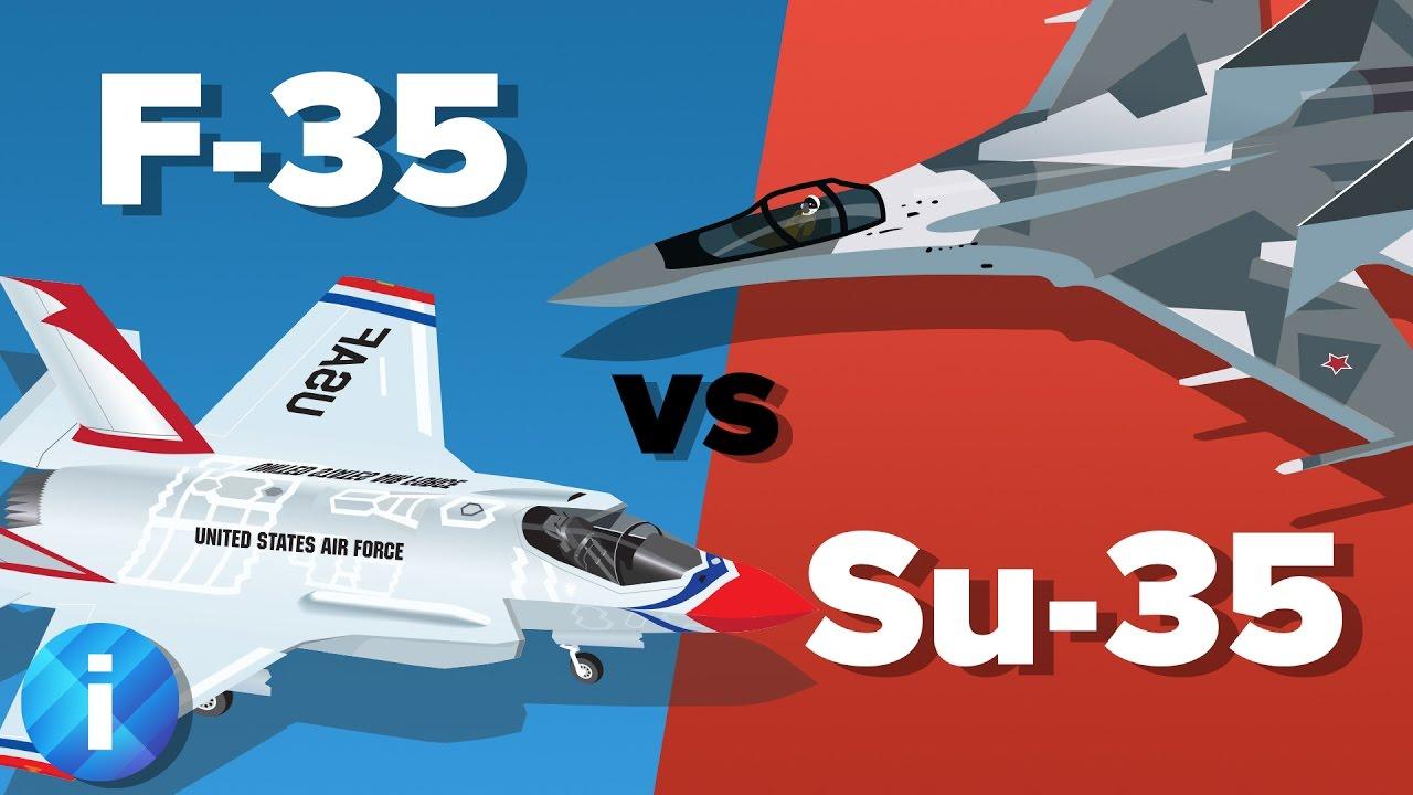 US F-35 vs Russian Su-35 Fighter Jet - Which Would Win? - Military Comparison - YouTube