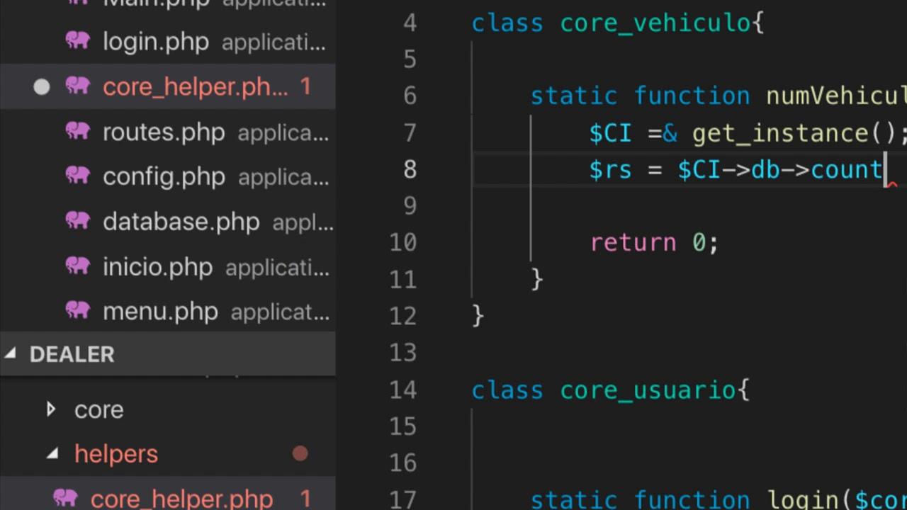 Static login in php