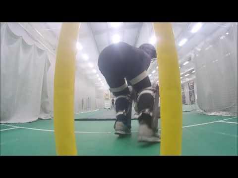 Roelof van der Merwe in the nets!
