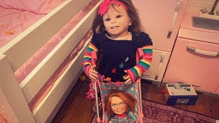Little Mary Charlotte takes care of Chucky!