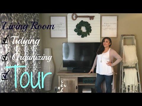 LIVING ROOM TIDYING/ORGANIZING| LIVING ROOM TOUR