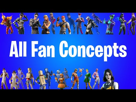 All Fan Concepts that became Skins in Fortnite! |