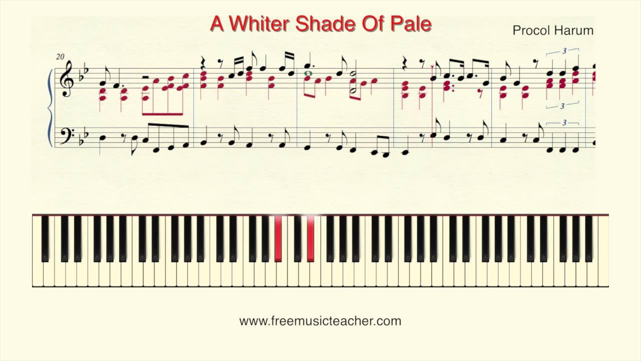 How to play piano a whiter shade of pale procol harum piano how to play piano a whiter shade of pale procol harum piano tutorial by ramin yousefi youtube hexwebz Choice Image