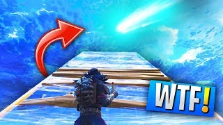 BREAKING SKY BARRIER To Get To The METEOR At TILTED TOWERS In Fortnite!
