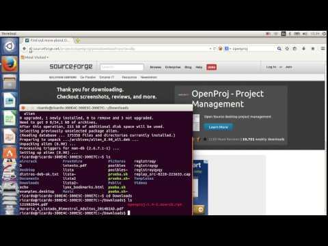 como instalar openproj en ubuntu 14 04 - YouTube