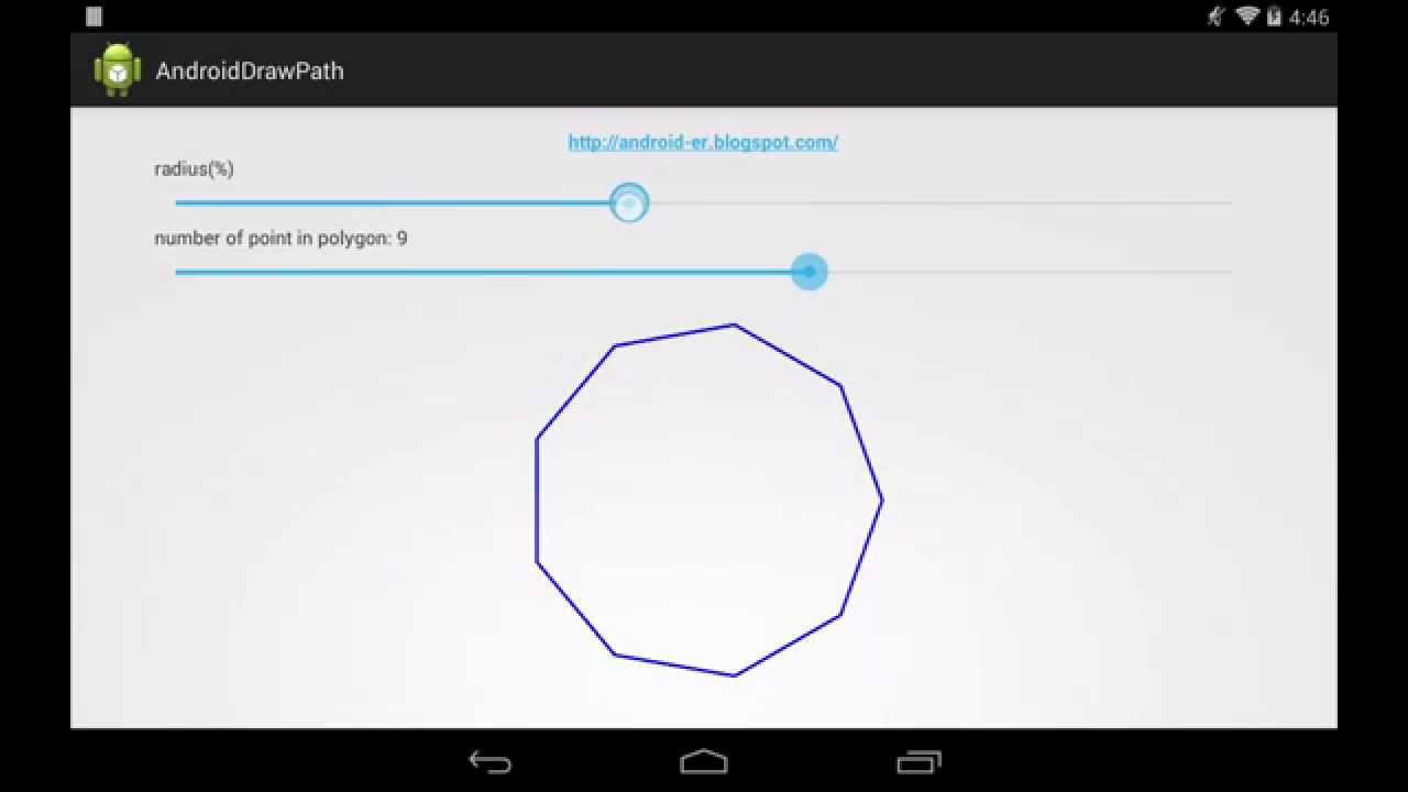 Android-er: Draw Path of polygon on canvas of custom View