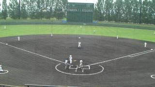 高等学校野球選手権山形大会 寒河江高校vs荒砥 一回表