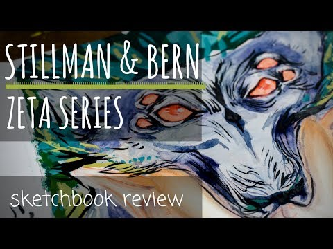 Zeta Series Sketchbook Review - Stillman and Birn - MIXED MEDIA CHALLENGE