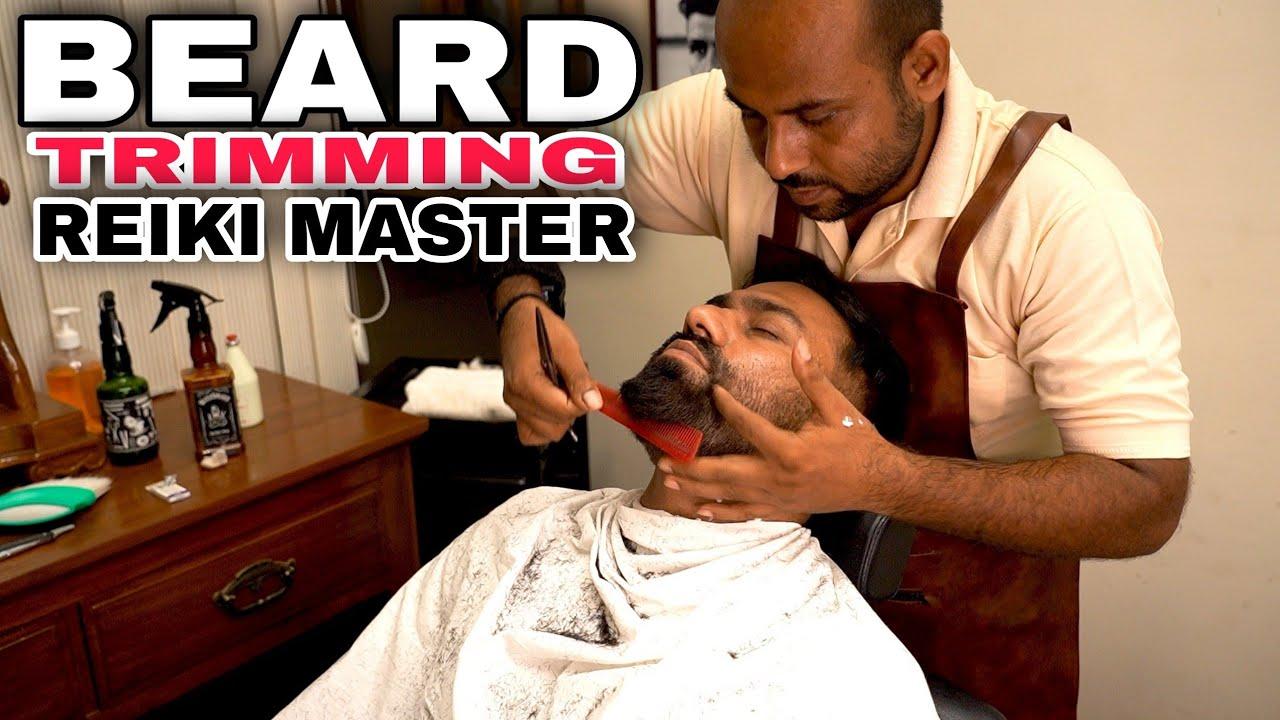 REIKI MASTER, 🔥 FIRE EAR HAIR REMOVAL, BEARD TRMMING, BEARD MASSAGE, SHAVE ASMR 💈INDIAN BARBER