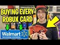 BUYING EVERY ROBUX CARD FROM WALMART... *RIP WALLET!* | Roblox