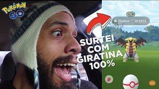 ENCONTREI UM GIRATINA 100% E SURTEI - POKÉMON GO 125