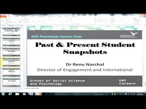 2014 Psychology Careers Expo - Past and Present Student Snapshots