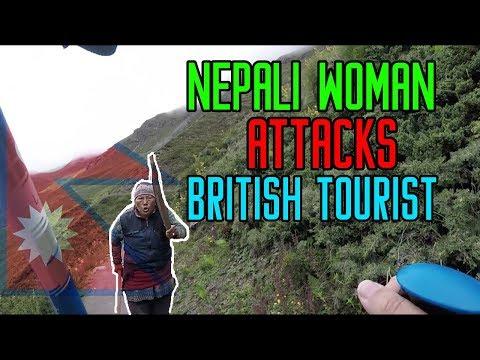 Brave Nepalese Woman Attacks British Woman for Misbehaving in Nepal 🇳🇵 Nepali Gaming Hub