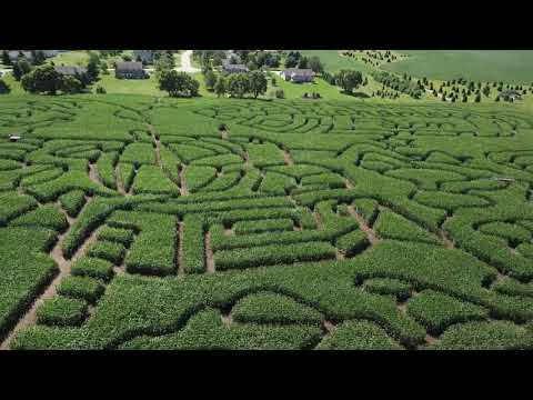 Apollo 11 corn maze at Richardson farm