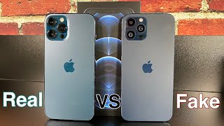 iPhone 12 Pro Max [VS] Fake - Goophone 12 Pro Max - Scary Close!