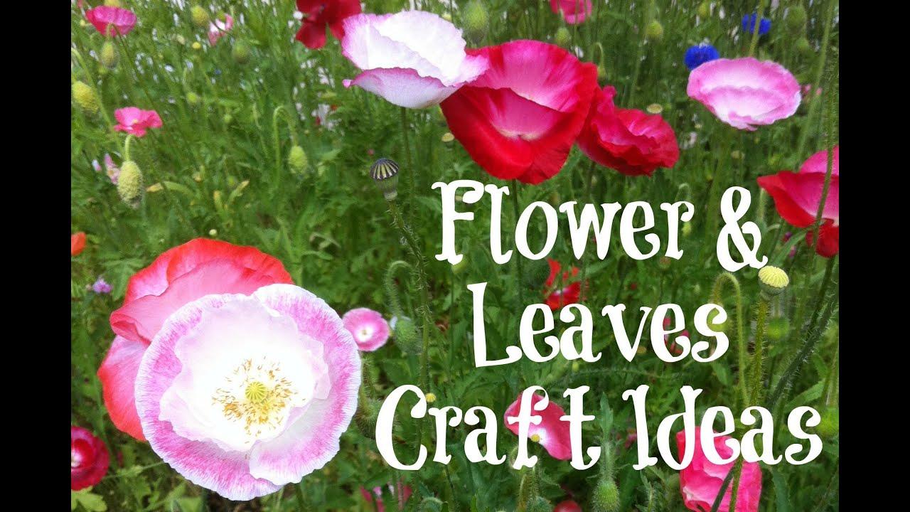 Flower & Leaf Crafts - YouTube - photo#47